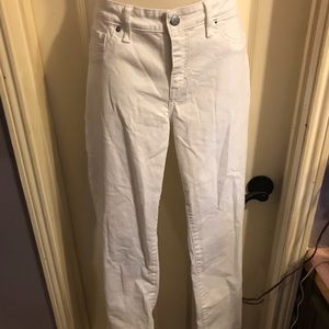Lucky Brand Lolita skinny white denim jeans Sz 10